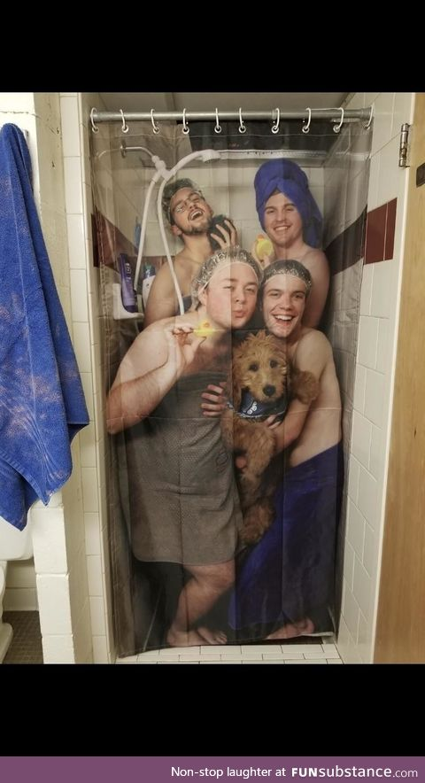 My friend's roommates' new shower curtain