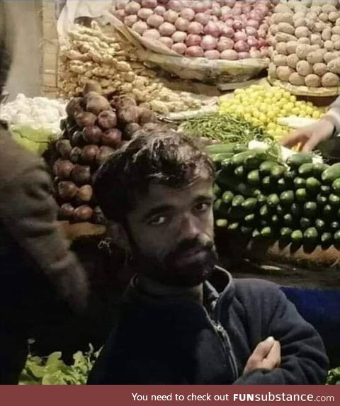 Tyrion Lannister found selling vegetables in Pakistan