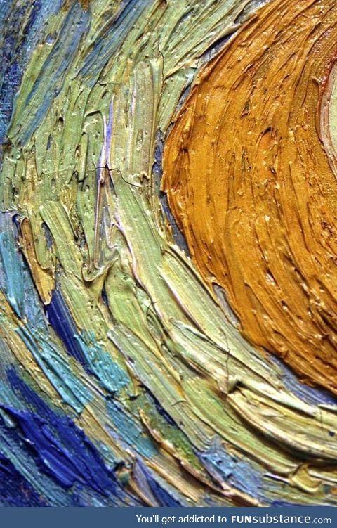 Up-Close of Van Gogh's Starry Night