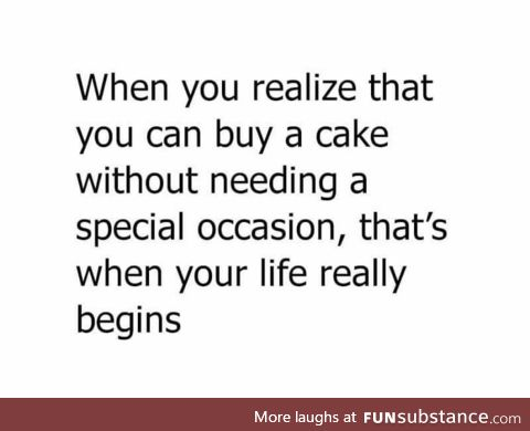 Who doesn't like cake?