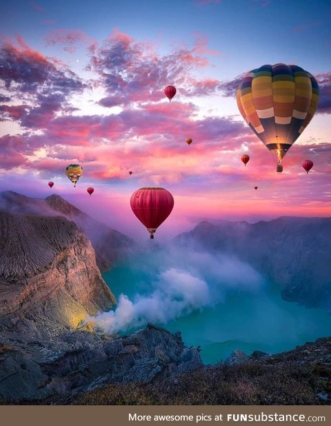 Hot air balloons in Indonesia