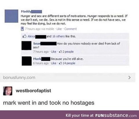 No hostages!