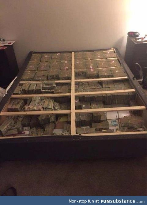 This is what $20 million under a mattress looks like