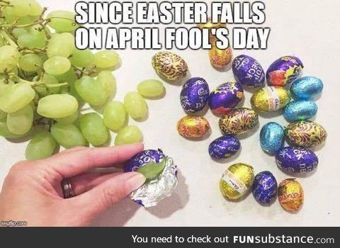 Easter is April Fool's day. Prepare yourselves