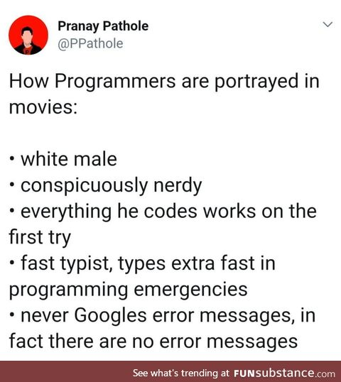 Programmers portrayal in movies