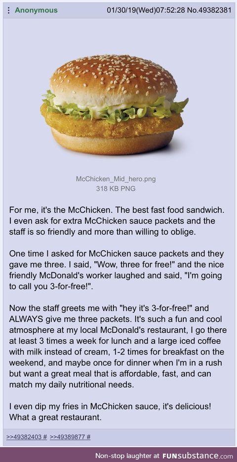 Anon likes McDonald's