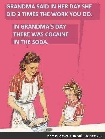 Classic grandma!