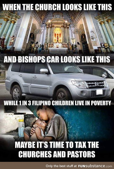 When priests are ridiculously wealthier than politicians in the Philippines