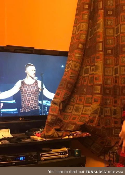 He wears the curtains. Nbd