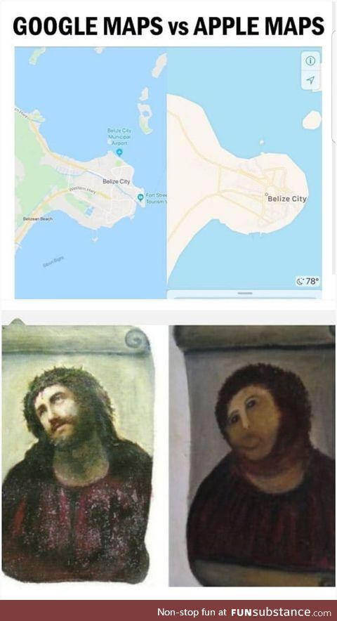 Google map vs Apple map