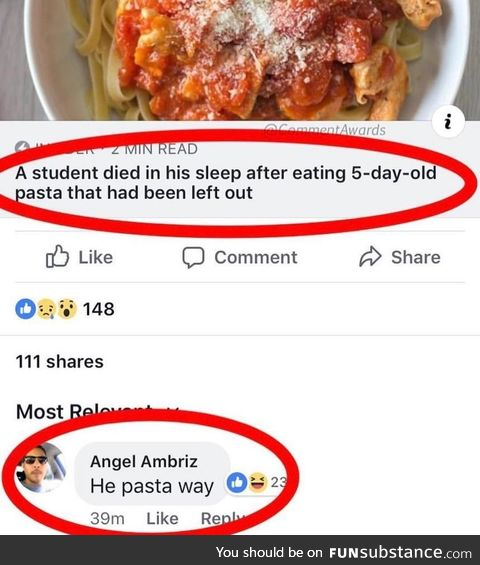 That is pasta concerning