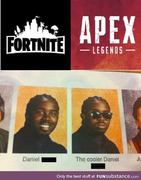 Apex legends > Fortnite
