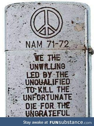 A Zippo lighter from the Vietnam War