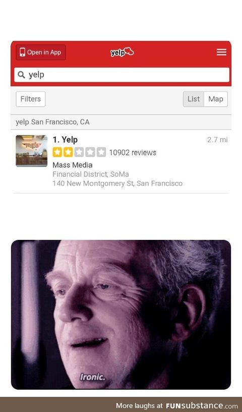 Darth Yelp the not so wise