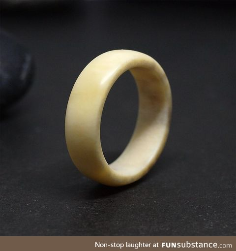 Carved that ring from shed deer antler
