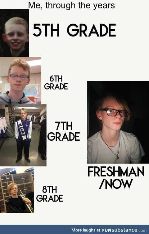 Me, through the years