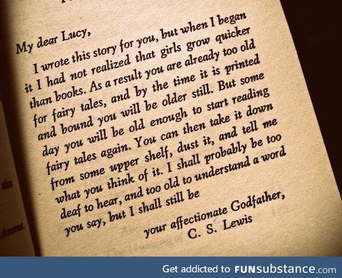 C.S. Lewis to his goddaughter