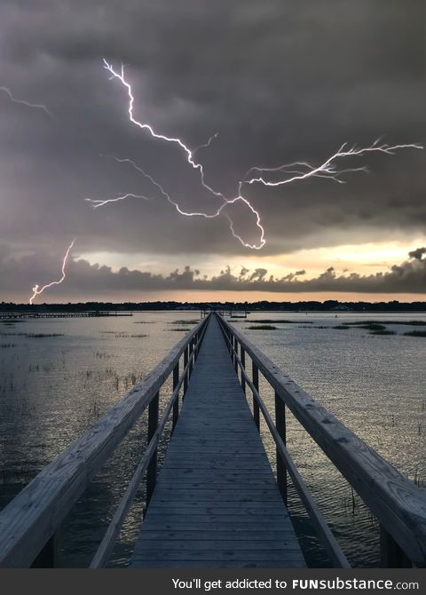 Lightning at the dock