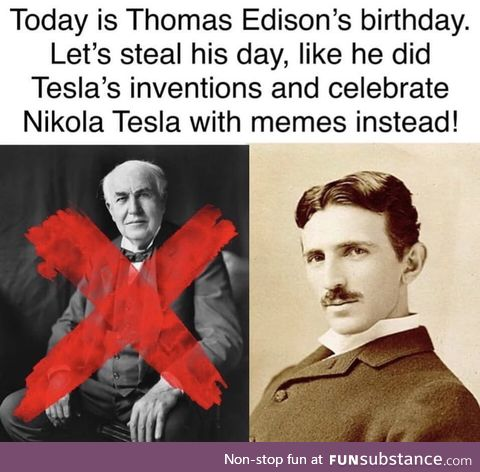 Happy birthday tesla!