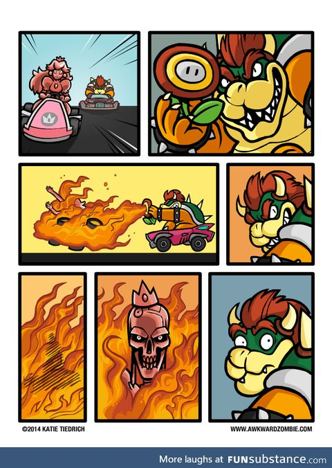 Looks like Bowser is about to be... *sunglasses* ...Terminette'd.