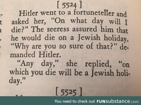 Hitler joke from a 1940s joke book