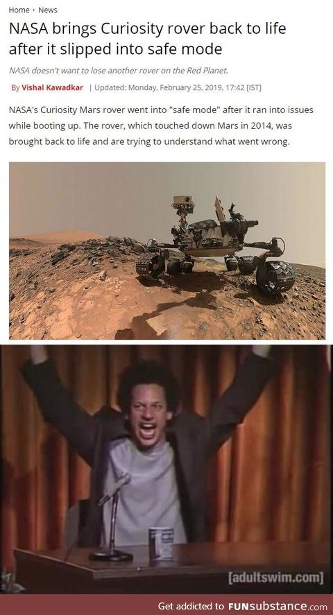 Curiosity is back, now to Opportunity