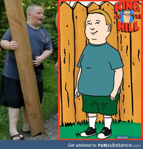 Remember Bobby Hill? Here he is IRL