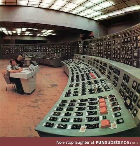 A soviet era power plant control room
