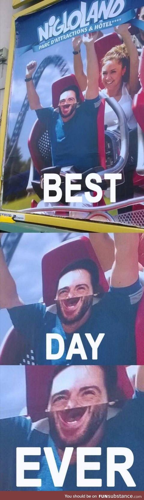 He just screams joy