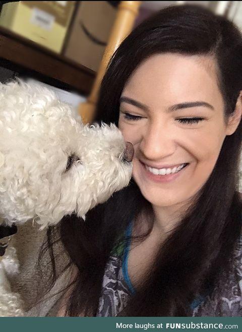 My favorite antidepressant; puppy kisses