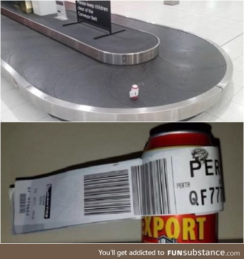 An Australian man traveling to Perth decided to check-in a single can of beer after