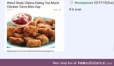 Anon eats chicken