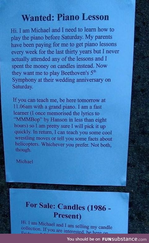 Oh, dear Michael!