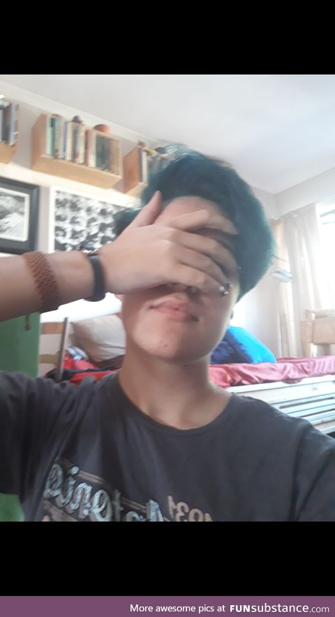 Guess who dyed their hair blue?! Btw I think you're awesome and damn do you look good, OP!