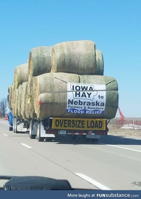 Spotted on the i80, West of Altoona. God bless our Farmers