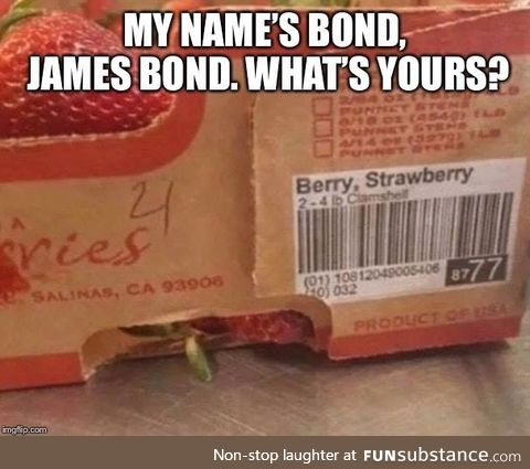 It's Berry... Straw.. Berry