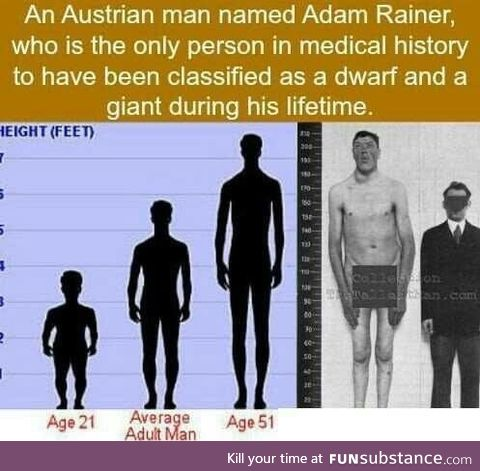 Adam Rainer, the Giant Dwarf