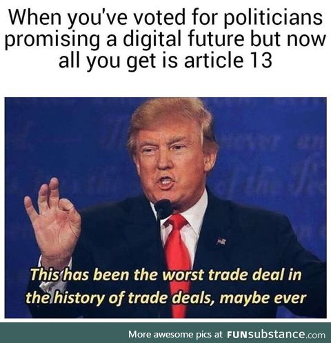 This meme is illegal in the EU. Stupid conservatives