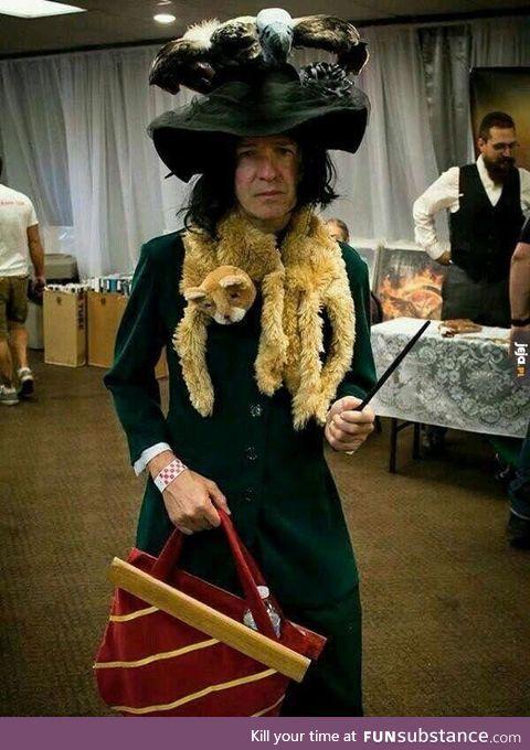 Brilliant Boggart Snape cosplay