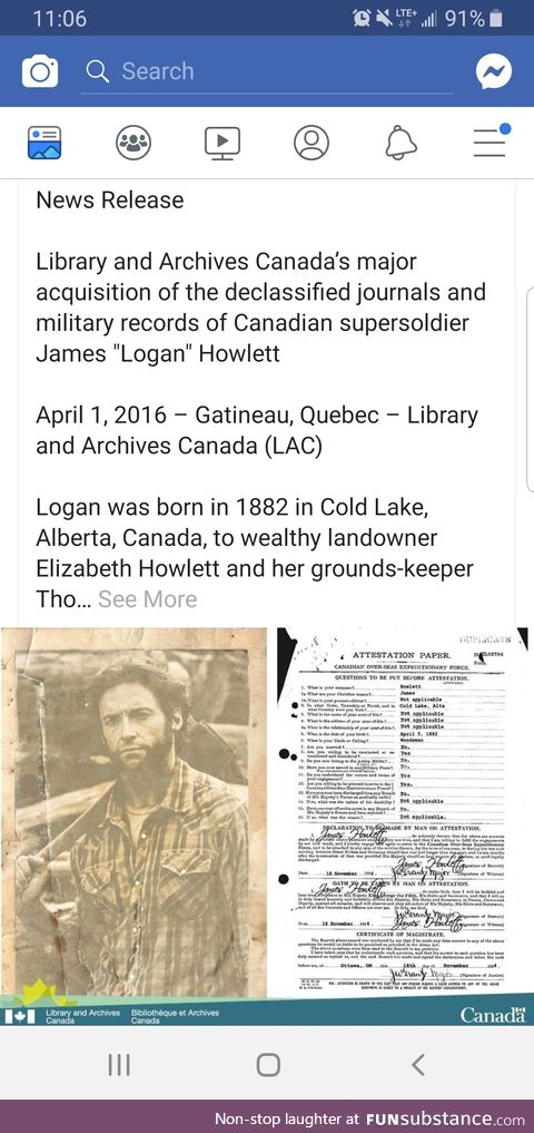 Official release from Library and Archives Canada