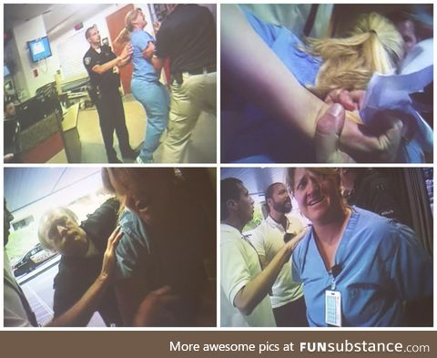 Police arrest nurse for doing her job and following procedure