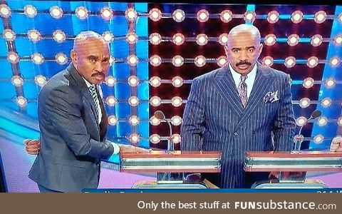 This dude showed up to Family Feud like he was cosplaying Steve Harvey