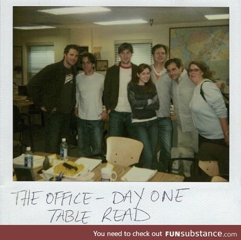 The first ever table read, for The Office (2005), season 1 episode 1, The Pilot