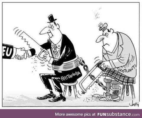 Finnish comic strip on Brexit