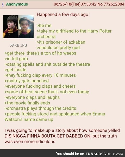 Anon watches Harry Potter