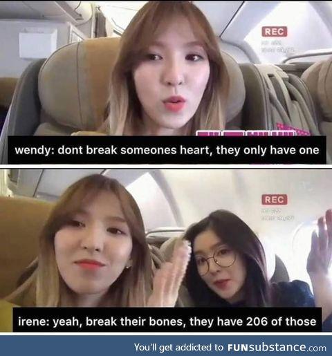 Remember, Break Bones not Hearts
