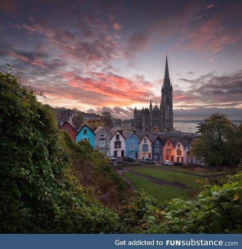 A photograph of an Irish sunset by Alex Yurko
