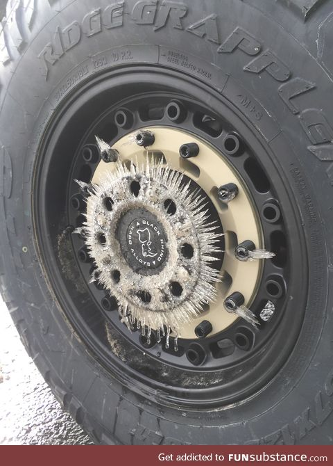 Ice on rims