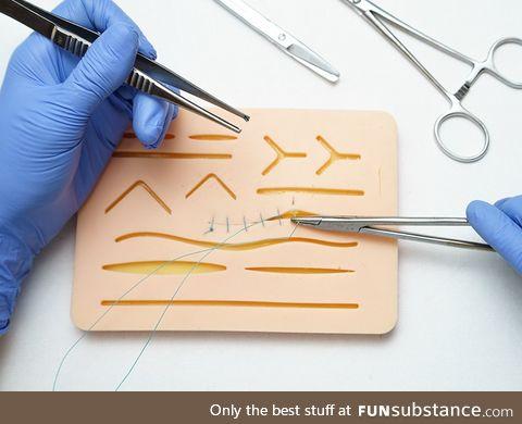 Suture training pad