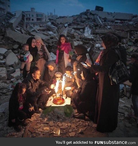 Just a little birthday in Gaza